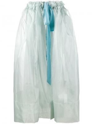Прозрачная юбка из тюля Molly Goddard. Цвет: синий