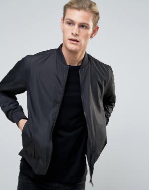 Brave Soul Легкая нейлоновая куртка‑пилот. Цвет: черный
