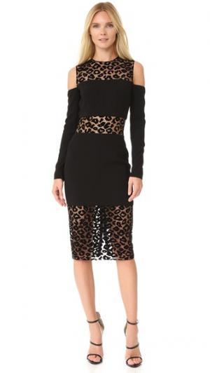 Платье с короткими рукавами Mugler. Цвет: черный/черный