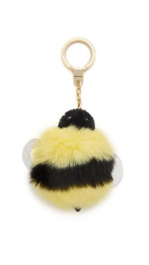 Брелок с помпоном в виде пчелиной матки Kate Spade New York. Цвет: желтый мульти