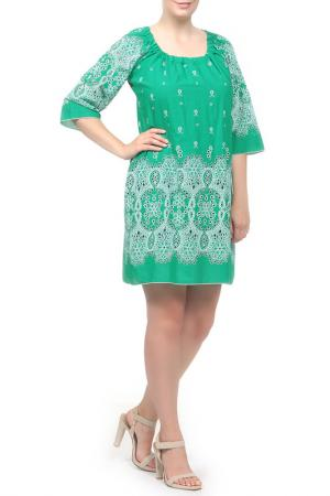 Платье Веста. Цвет: зеленый