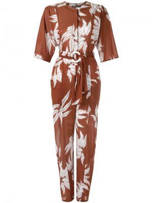 Printed jumpsuit Andrea Marques. Цвет: коричневый