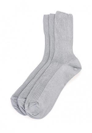 Комплект носков 3 пары Брестские. Цвет: серый