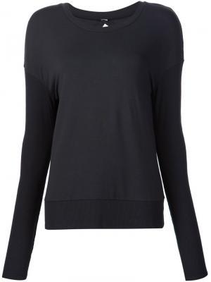 Open back sweatshirt Alo. Цвет: чёрный
