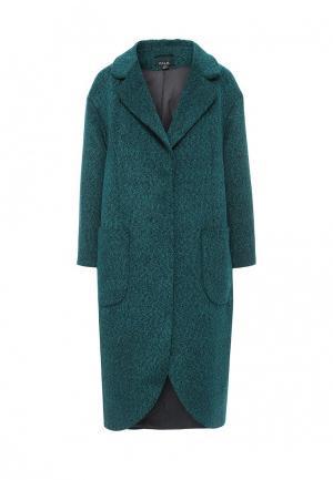 Пальто W&B. Цвет: бирюзовый