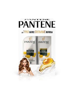 Подарочный набор Густые и крепкие: шампунь 250 мл + бальзам-ополаскиватель 200 PANTENE. Цвет: белый, черный