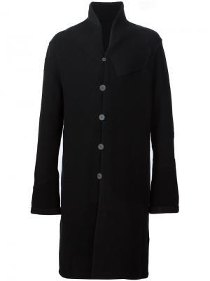 Двухстороннее пальто Label Under Construction. Цвет: чёрный