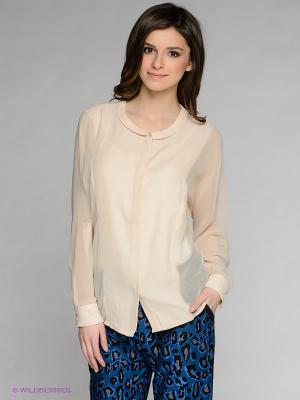 Блузка SELECTED. Цвет: персиковый