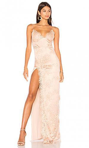 Атласное вечернее платье motel jay Gemeli Power. Цвет: rose