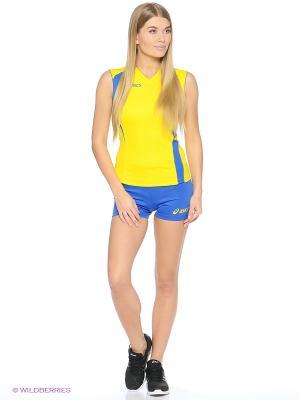 Комплект (майка + шорты) SET FLY LADY ASICS. Цвет: желтый, синий