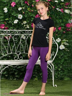 Леггинсы Arina Ballerina. Цвет: фиолетовый