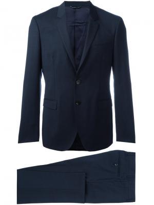 Приталенный костюм Tonello. Цвет: синий