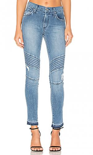 Рваные укороченные мото джинсы James Jeans. Цвет: none