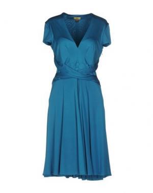 Платье до колена ISSA. Цвет: лазурный