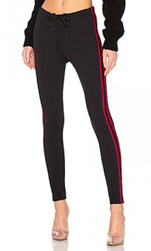 Спортивные легинсы stripe YEEZY. Цвет: черный