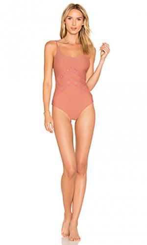 Слитный купальник alyssa Tori Praver Swimwear. Цвет: розовый