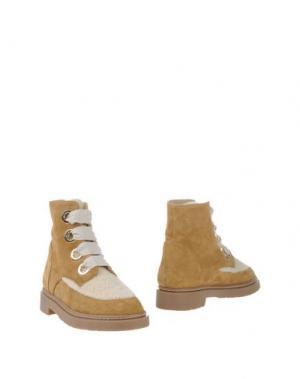 Полусапоги и высокие ботинки PAUL & JOE. Цвет: бежевый