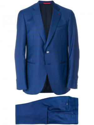 Классический костюм-двойка Isaia. Цвет: синий
