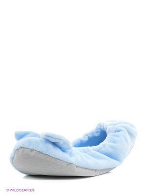 Тапочки Oodji. Цвет: голубой