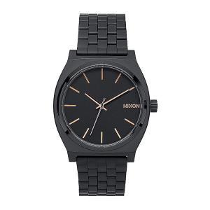 Часы  Time Teller All Black/Rose Gold Nixon. Цвет: черный