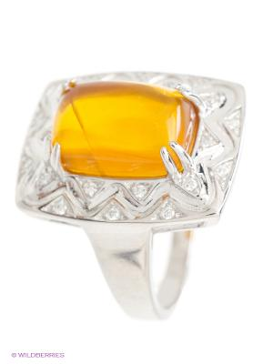 Кольцо Silver Wings. Цвет: оранжевый, серебристый