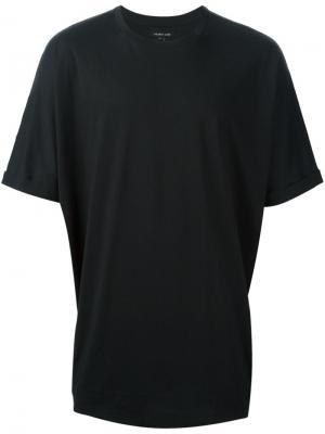 Свободная футболка Helmut Lang. Цвет: чёрный