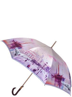 Зонт-трость Eleganzza. Цвет: сиреневый, лиловый, фиолетовый