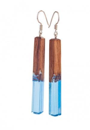 Серьги Green Wood. Цвет: голубой