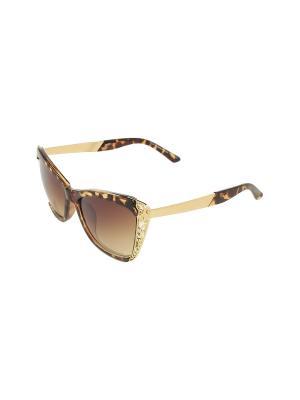 Солнцезащитные очки Gusachi. Цвет: коричневый, желтый, золотистый