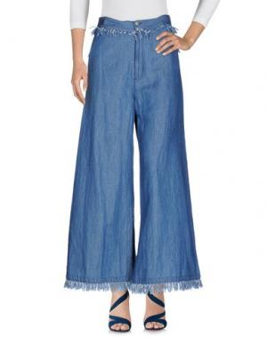 Джинсовые брюки TSUMORI CHISATO. Цвет: синий