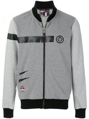 Спортивная куртка Spirit Plein Sport. Цвет: серый