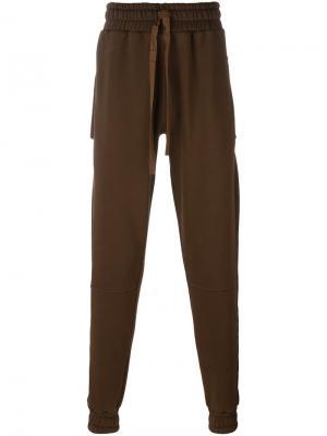 Спортивные брюки Blood Brother. Цвет: коричневый