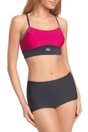 Swimsuit GWINNER. Цвет: gray and fuchsia