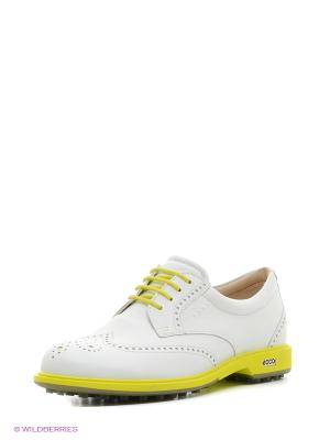 Туфли ECCO. Цвет: белый, желтый
