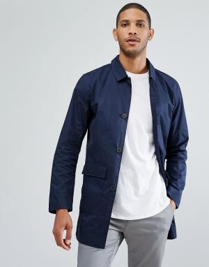 Selected Homme Макинтош с накладными карманами. Цвет: темно-синий