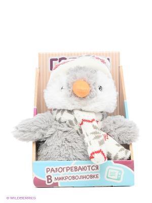 Игрушка-грелка Пингвин в шапочке Warmies. Цвет: серый