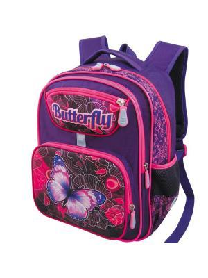 Ранец ученический Stelz. Цвет: фиолетовый, розовый