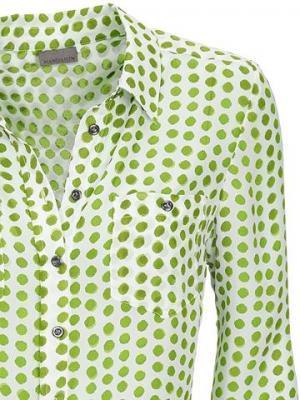 Блуза в горошек MANDARIN. Цвет: фисташковый