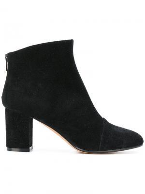 Ботинки на наборном каблуке средней высоты Jean-Michel Cazabat. Цвет: чёрный