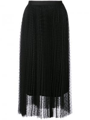 Плиссированная юбка из тюля Robert Rodriguez. Цвет: чёрный