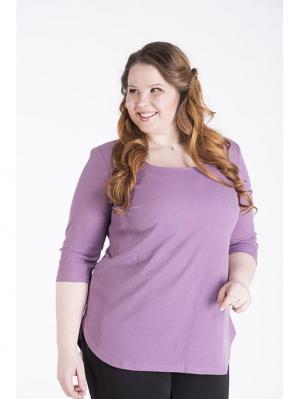 Блузка Queen Size. Цвет: сиреневый