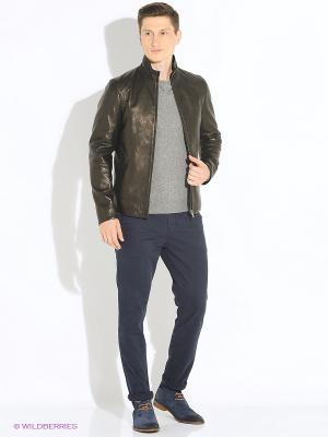 Перфорированная кожаная куртка VESIVIO. Цвет: черный