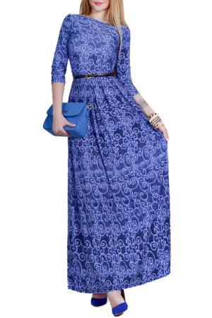 Платье Patricia B.. Цвет: голубые завитки