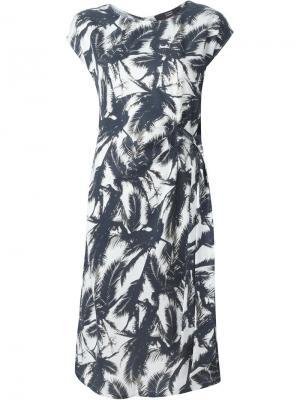 Платье с принтом пальм Steffen Schraut. Цвет: чёрный