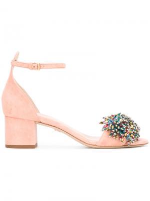 Декорированные босоножки Elie Saab. Цвет: розовый и фиолетовый
