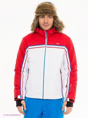 Куртка CMP. Цвет: белый, красный