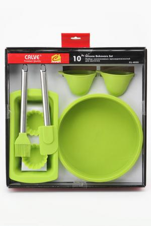 Кухонный набор 10 предметов Calve. Цвет: зеленый