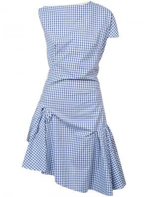 Платье с вырезом-лодочка Les Animaux. Цвет: синий