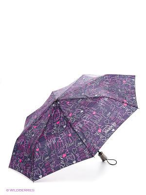Зонт Isotoner. Цвет: розовый, серый, сиреневый, темно-фиолетовый