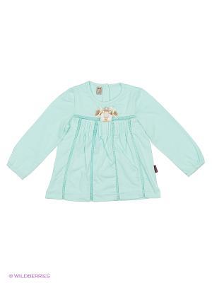 Блузка Cuseberry. Цвет: голубой